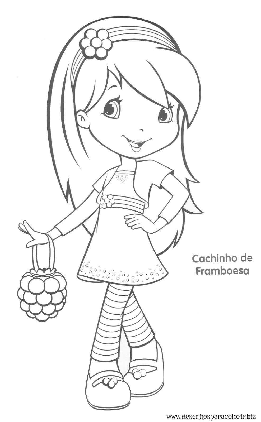 aqui no site temos vários desenhos da moranguinho para colorir