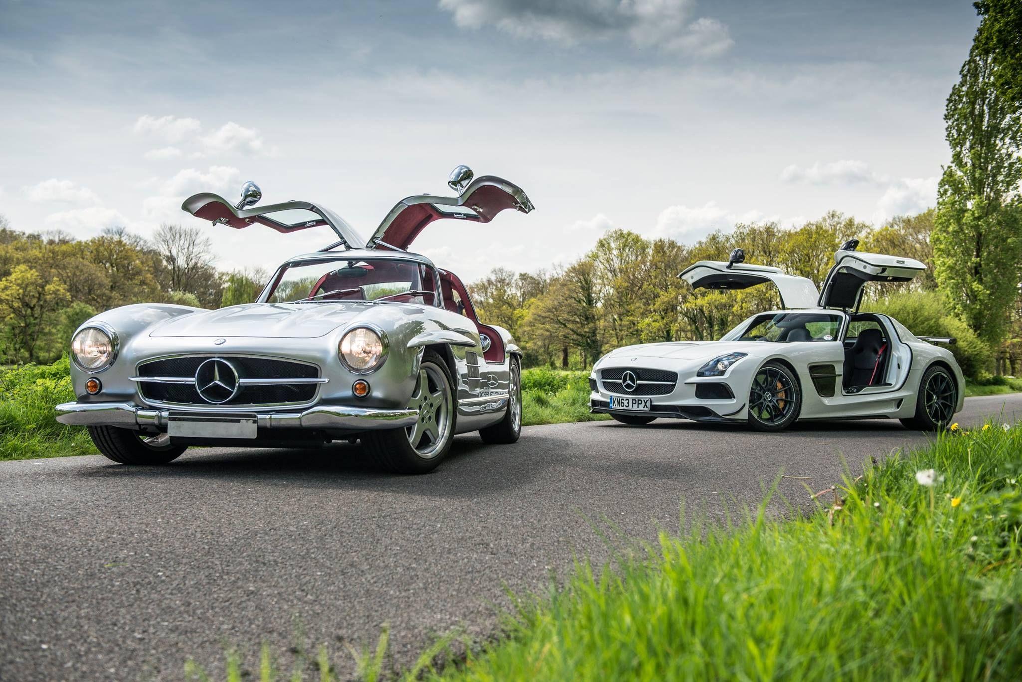 Then And Now Mercedes 300sl And Sls Amg 2048x1366 Mit Bildern