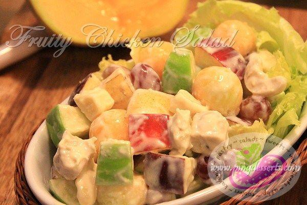 Fruity chicken salad recipe food recipes pinterest filipino philippines food fruity chicken salad recipe forumfinder Gallery