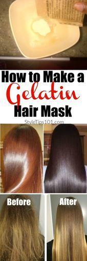 How to Make a Gelatin Hair Mask For Super Shiny Hair How to Make a Gelatin Hair Mask For Super Shiny Hair