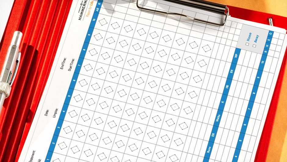 Box score Template for a baseball game | Paper for Home | Pinterest ...