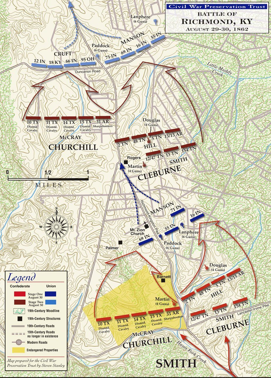 The Battle of Richmond - August 29–30, 1862   Civil War   Civil war on tn gis civil war, the battle of malvern hill civil war, seven days campaign civil war, bowling green civil war,
