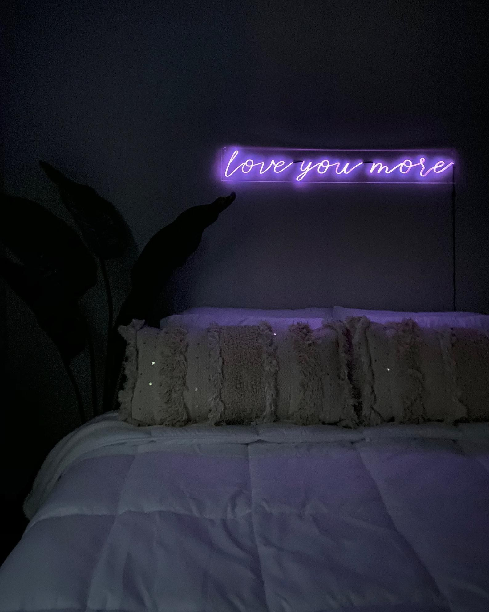 Love You More Neon Sign 36 inches Custom Handmade Etsy
