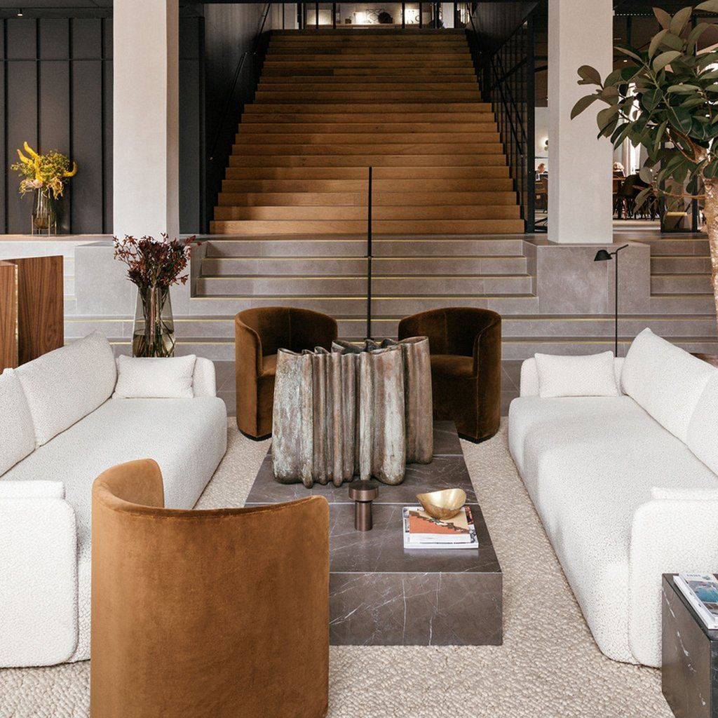 Tearoom Club Chair Hotel Interiors Lobby Design Copenhagen Hotel