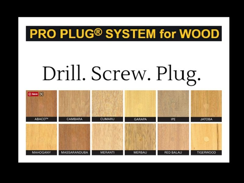 Pro Plug System for Wood | Hidden Deck Fasteners | Wood plugs