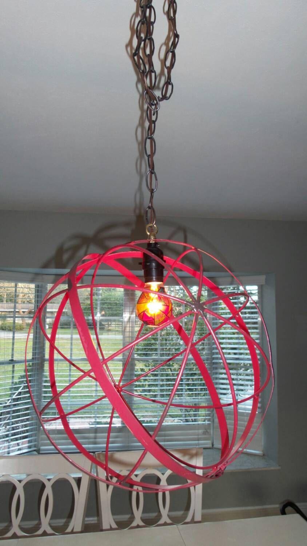 Large Industrial Orb Sphere Globe Pendant Chandelier Rustic | Ideas ...