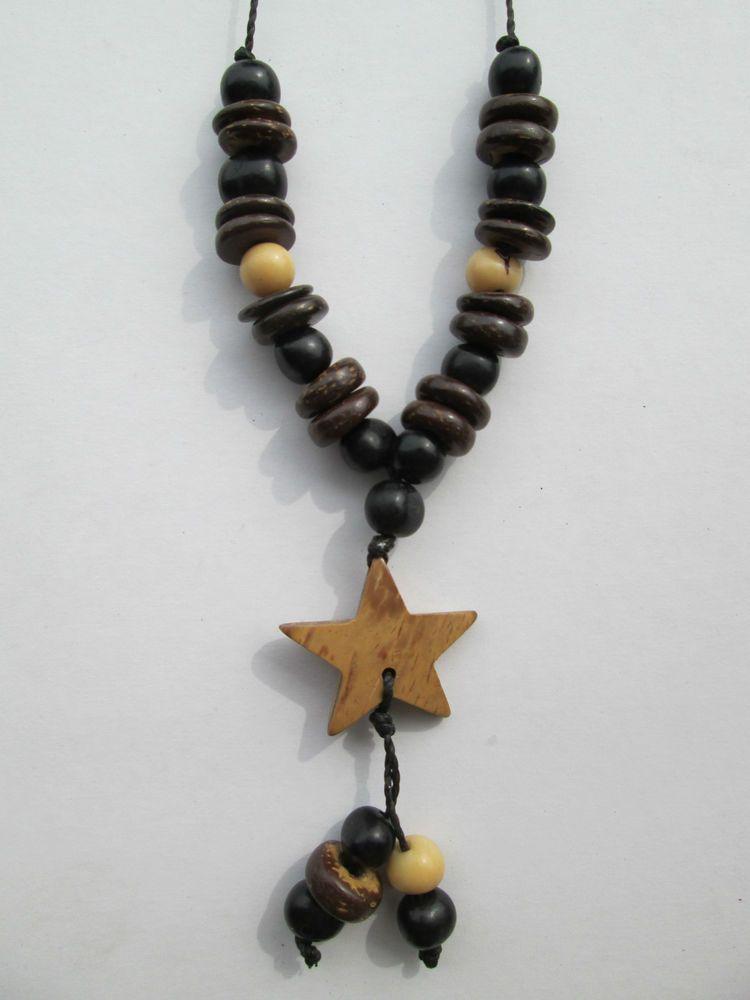 1 Halskette aus Brasilien Hippie Goa Schmuck nr.5 Samen Kokos Kette