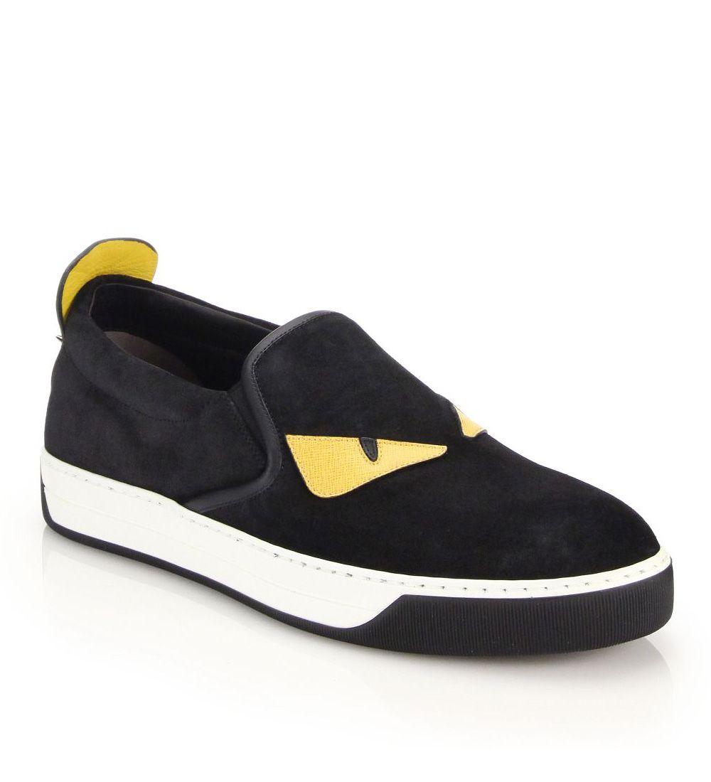 11be6040 Fendi Monster Slip-On Sneakers Black $149.00 | Sneakerhead | Slip on ...