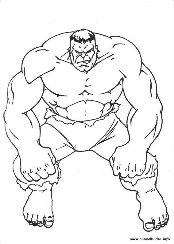 Ausmalbilder Hulk zum Drucken Ausmalbilder Malvorlage