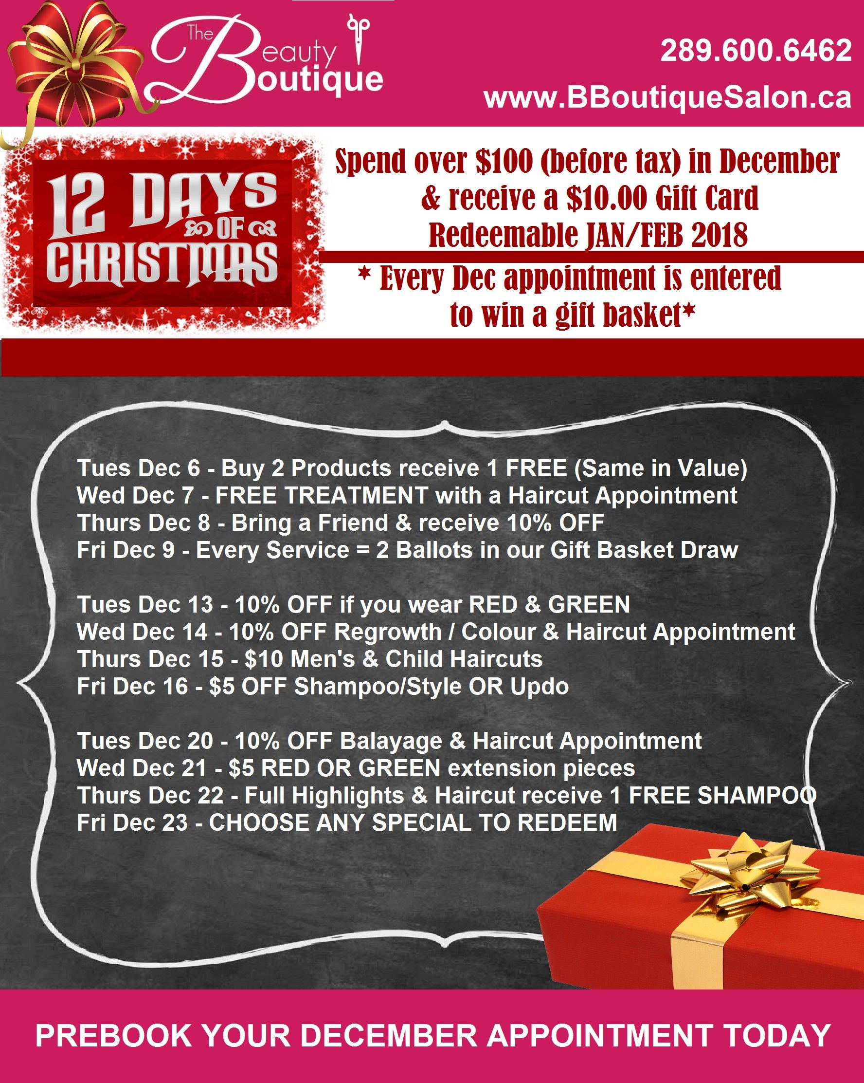 Our 12 Days Of Christmas Is Back Prebook Your Appointment Online