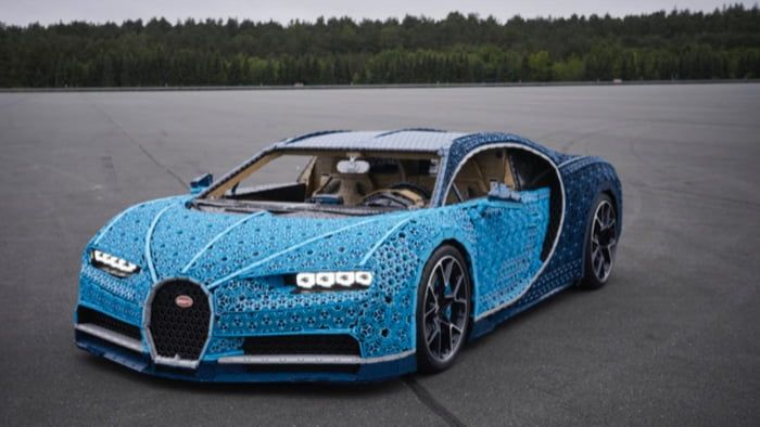 Lego built a drivable Bugatti Chiron with over 1 million  #funny #infinityfunny #Awesome