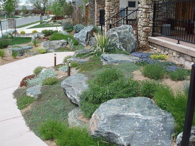 boulder in landscaping Boulder PlantingsGarden DesignJS