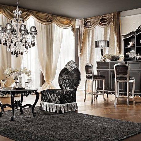 ديكورات ستائر إيطالية مع أجود الأقمشة الزخرفية Vogue Living Room Luxury Furniture Luxury Dining Room