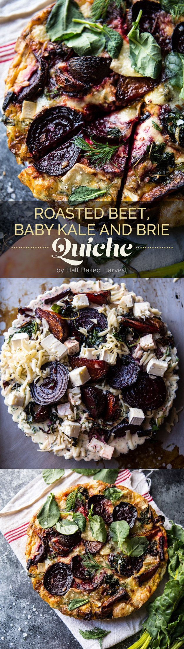 Roasted beet baby kale and brie quiche roasted beets brie and roasted beet baby kale and brie quiche forumfinder Image collections