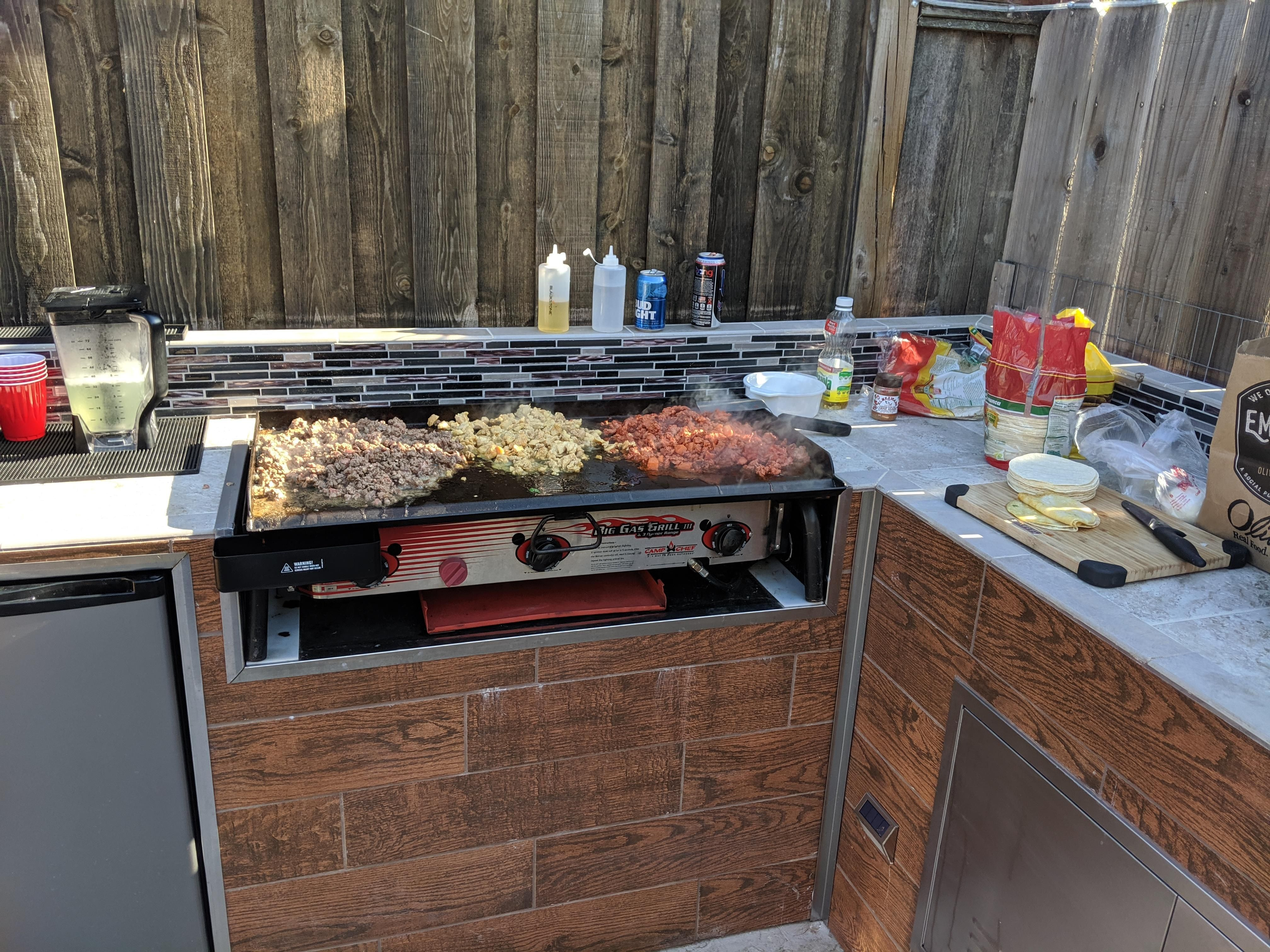 Diy Outdoor Bbq Using Camp Chef Grill Camp Chef Outdoor Bbq Built In Grill