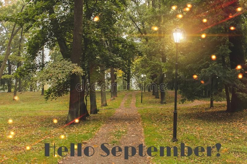 Hello September banner. New month. Greeting card. Golden autumn. The text in the photo. Trees in the park. City Park. Autumn Park stock photo #helloseptember Hello September banner. New month. Greeting card. Golden autumn. The text in the photo. Trees in the park. City Park. Autumn Park stock photo #helloseptember Hello September banner. New month. Greeting card. Golden autumn. The text in the photo. Trees in the park. City Park. Autumn Park stock photo #helloseptember Hello September banner. Ne #helloseptember