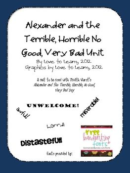The Good And Very Very Bad Education >> Alexander And The Terrible Horrible No Good Very Bad Day