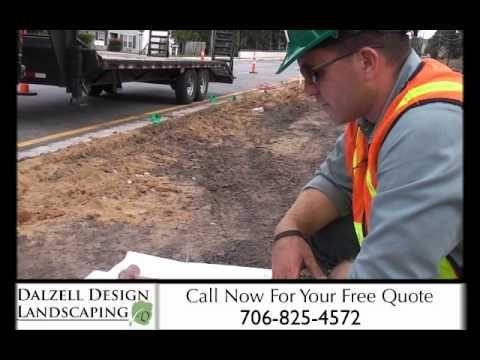 Landscape design on the median in Augusta GA on Alexander drive. By Dalzell Design Landscaping
