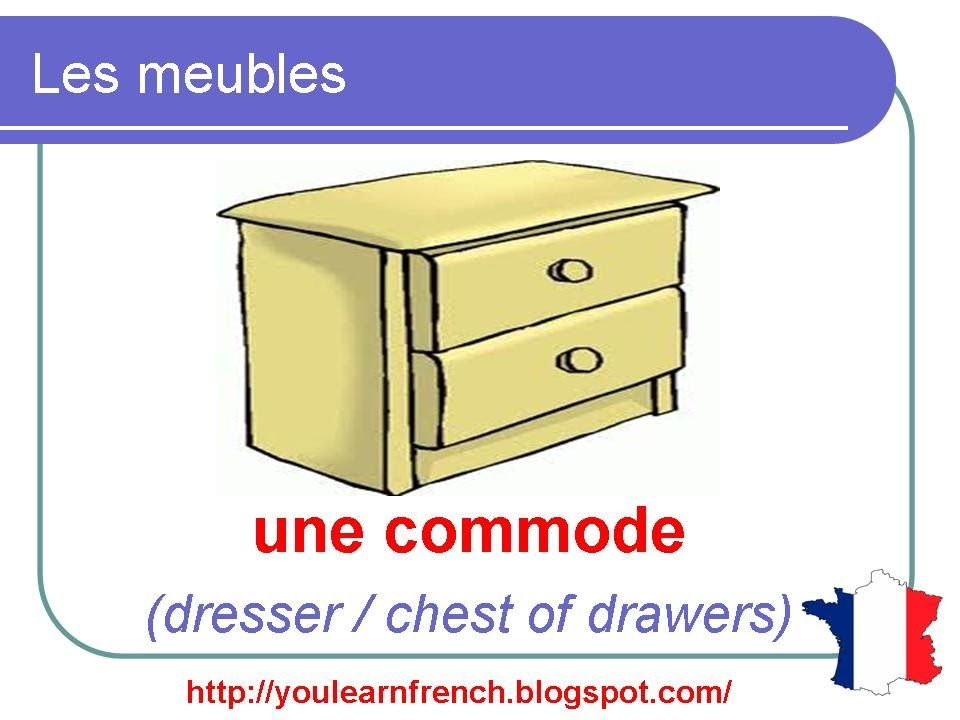 French Lesson 88 - Pieces of Furniture - Les meubles - House Household Vocabulary - YouTube
