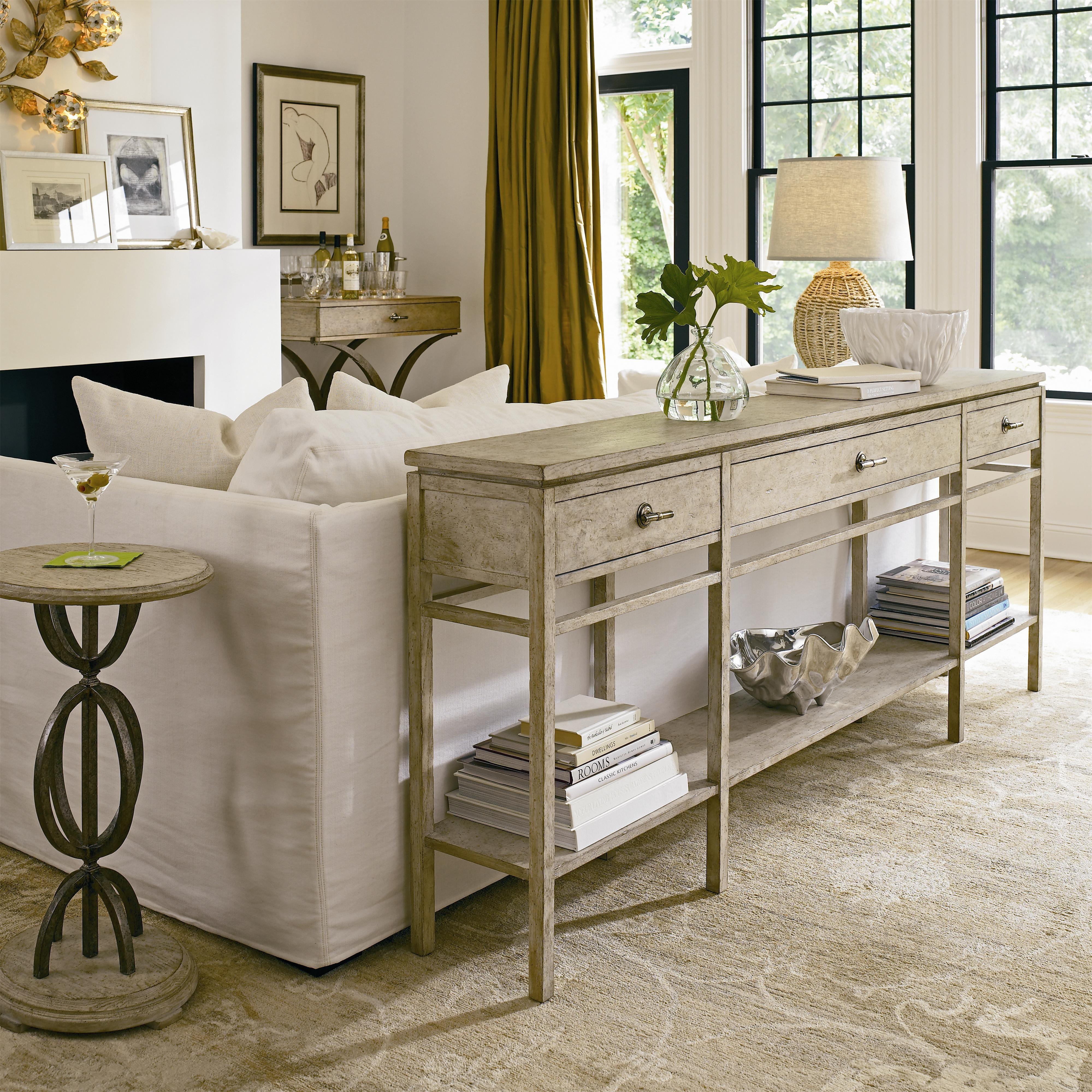 coastal living resort 3 drawer palisades sofa table by stanley furniture stanley furniture. Black Bedroom Furniture Sets. Home Design Ideas