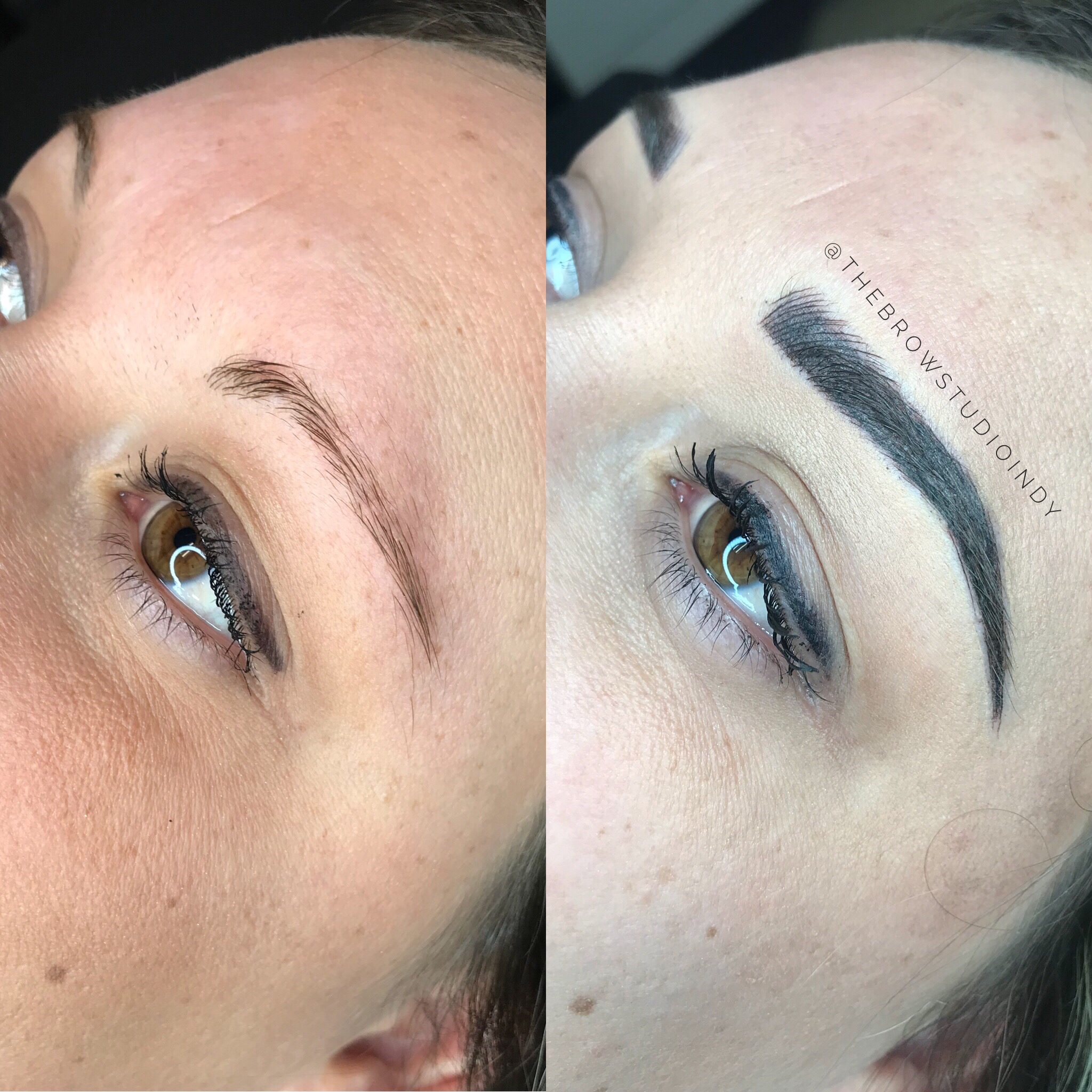Before and After Combination Brow at thebrowstudioindy.com ...