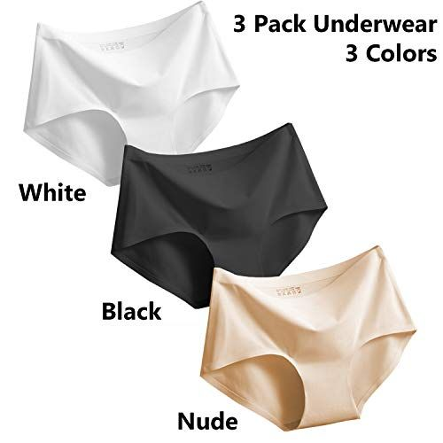 Women 3 Pack Seamless  Invisible Briefs Hipster Underwear Panties Knickers