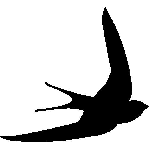 Swift Bird Shape Free Vector Icons Designed By Freepik Swift Bird Bird Silhouette Bird Stencil