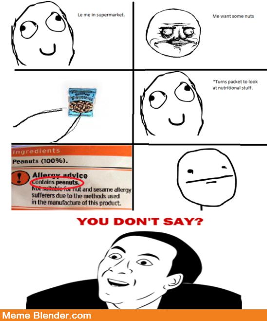 f1ed8aa12ada09b6458096beee663127 you don't say meme peanuts you don't say pinterest meme