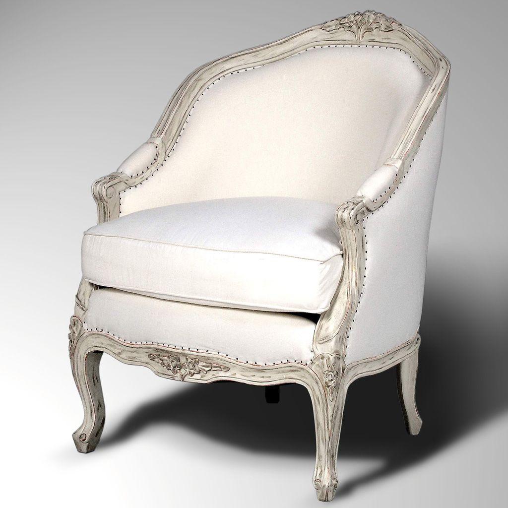 Itialian accent furniture accent french armchair louis xv cabriolet painted 300x300 louis xv - Chaise de bureau baroque ...