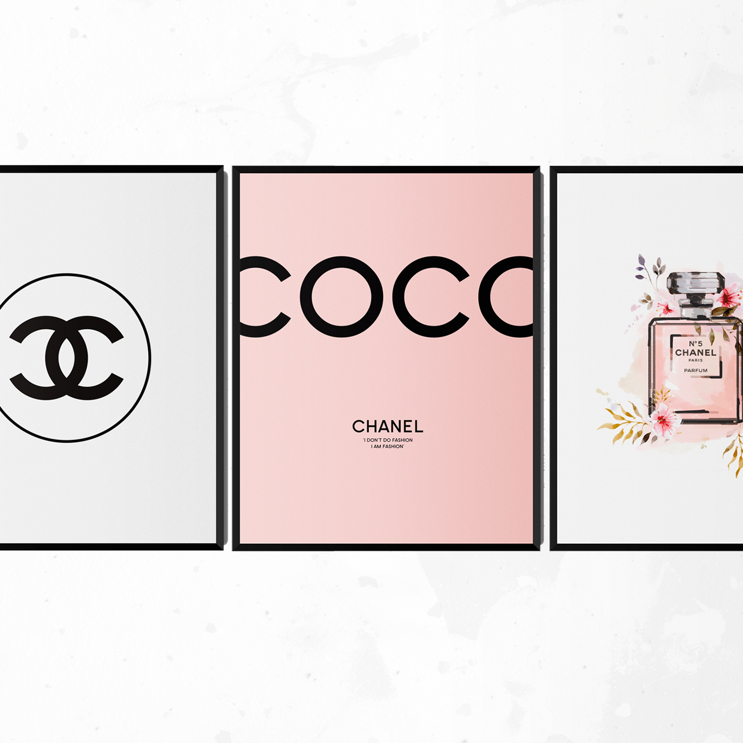 My New Chanel Wall Art Collection Is Here Remem This Yummy Vouge Fashion Just Sold On Wrhel Com Want To Know Chanel Wall Art Wall Art Gift Chanel Print