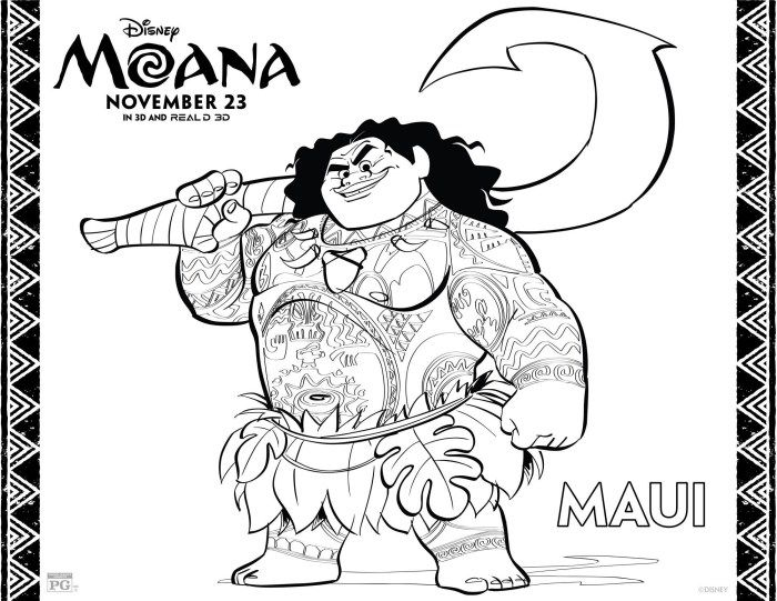 Countdown To Moana With Coloring Activity Sheets Oceania