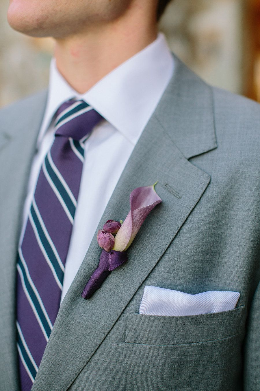Calla Lily boutonniere - Sonoma Wedding from Briana Marie Photography