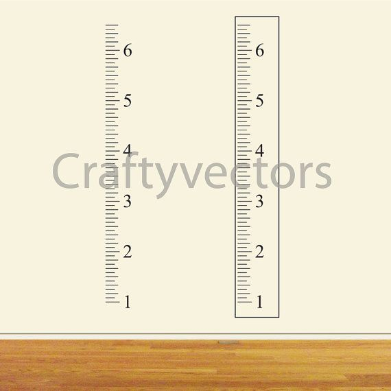 Ruler Growth Chart vector template - Inches | Cameo | Growth chart