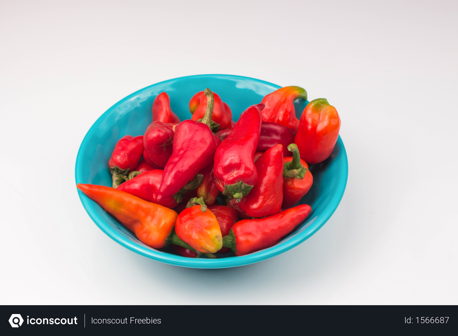 Free Red Chili Peppers Vegetable In Light Blue Bowl Isolated On White Background Photo Download In Png Jpg Format Stuffed Peppers Light Blue Bowls Blue Bowl
