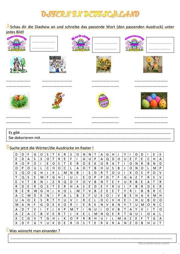 Osterbräuche | Deutschunterricht | Pinterest | Worksheets