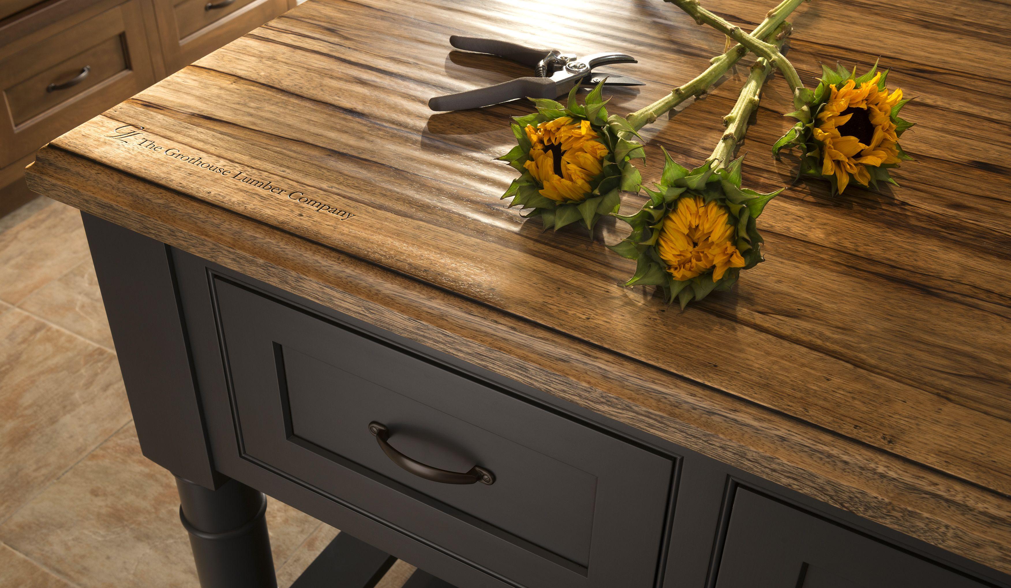 Rustic Wood Countertops Wood countertops kitchen, Rustic