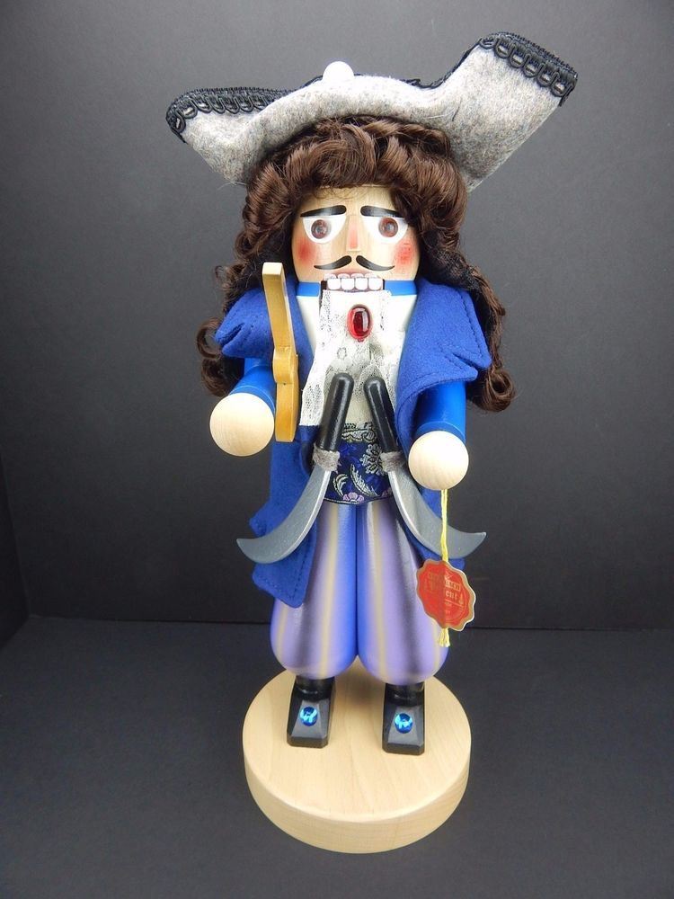Steinbach Nutcracker Design for Kurt Adler Pirate Captain New w/Box HandMade COA