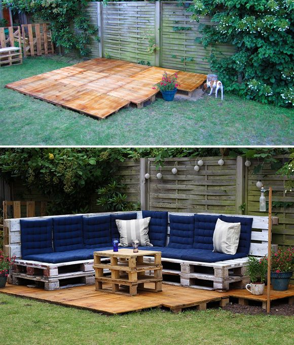 Diy Pallet Chair Design Ideas To Try: Is That A Pallet Swimming Pool? 24 DIY Pallet Outdoor