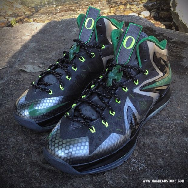 "Nike LeBron X Elite ""Oregon"" Custom"