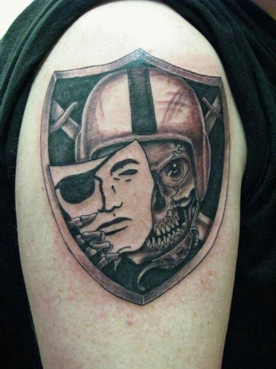 Raiders tattoo tattoos pinterest raiders tattoo and for Oakland raiders tattoos designs