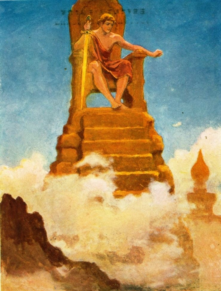Tales from Norse Mythology by Katharine Pyle-Frey mounts the height of Hildskialf