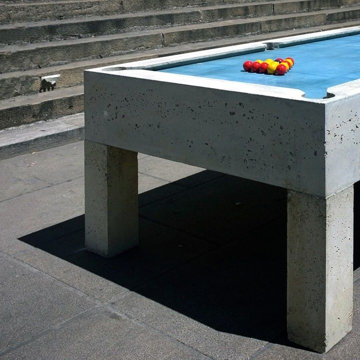 Public Pool Table Billiards Urbain By Gwendal Le Bihan