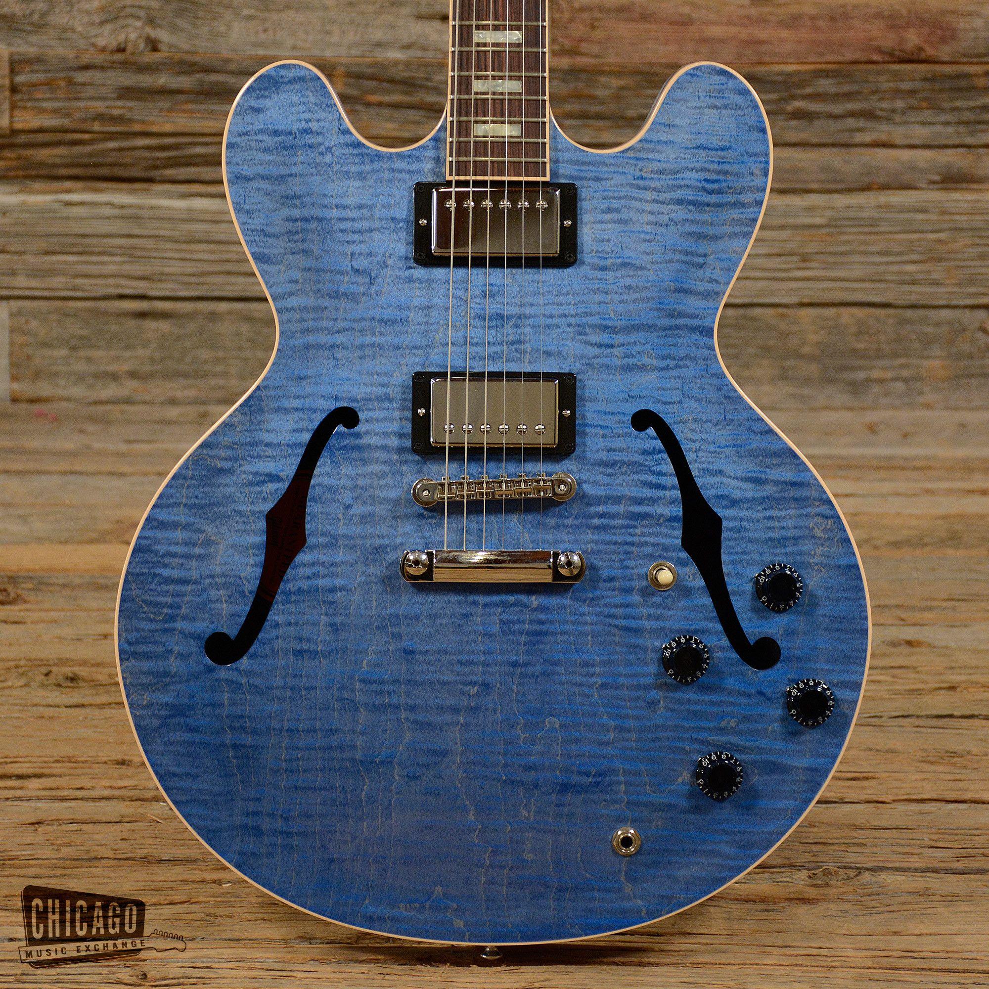 gibson es 335 indigo 2015 used s708 cool guitars pinterest