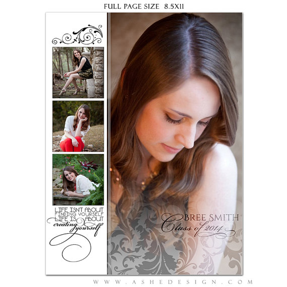senior yearbook ad sets for photographers a touch of class 3 photoshop templates full. Black Bedroom Furniture Sets. Home Design Ideas