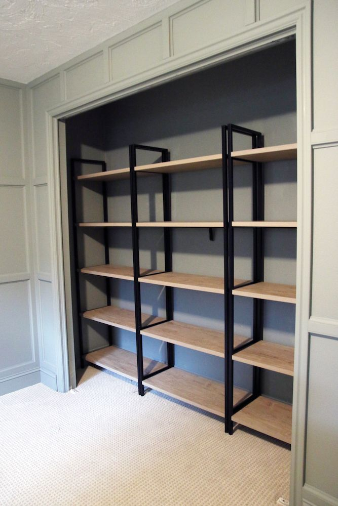 Using Bookcases In A Bedroom Closet Home Office Closet Spare
