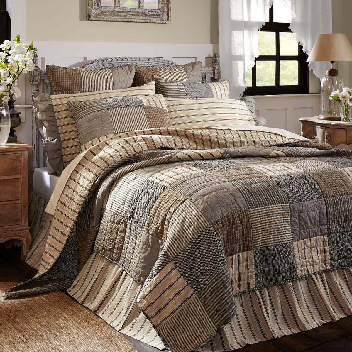 Sawyer Mill Charcoal Quilt 5 Sizes Farmhouse Bedding Farmhouse Quilts Quilt Bedding