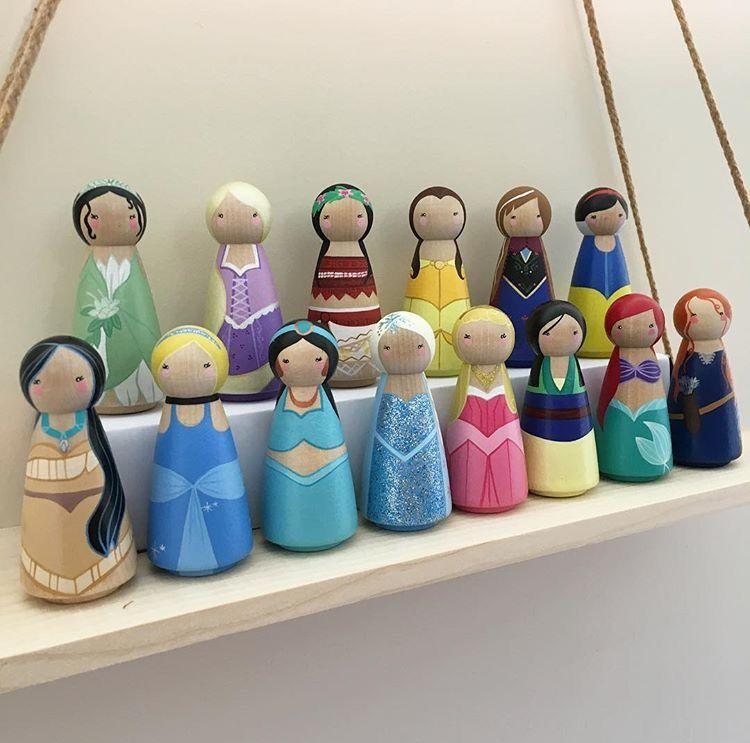 Disney Princess Peg Dolls Very Cute Peg Dolls Wood Peg Dolls