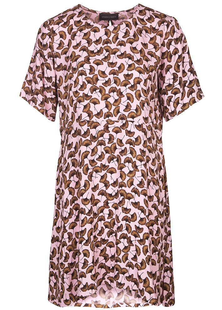 Kjole rosa print 10094 Storm og Marie Holly Dress - pink print