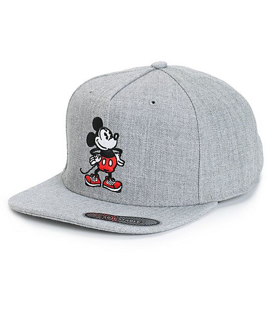 d43bb1d82e1 Throw on some iconic style with Disney s Mickey Mouse embroidered at the  front of a grey acrylic-wool blended crown.