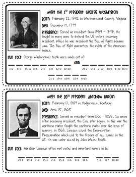 Presidents' Day Fun Fact Freebie  - fun - code - printable